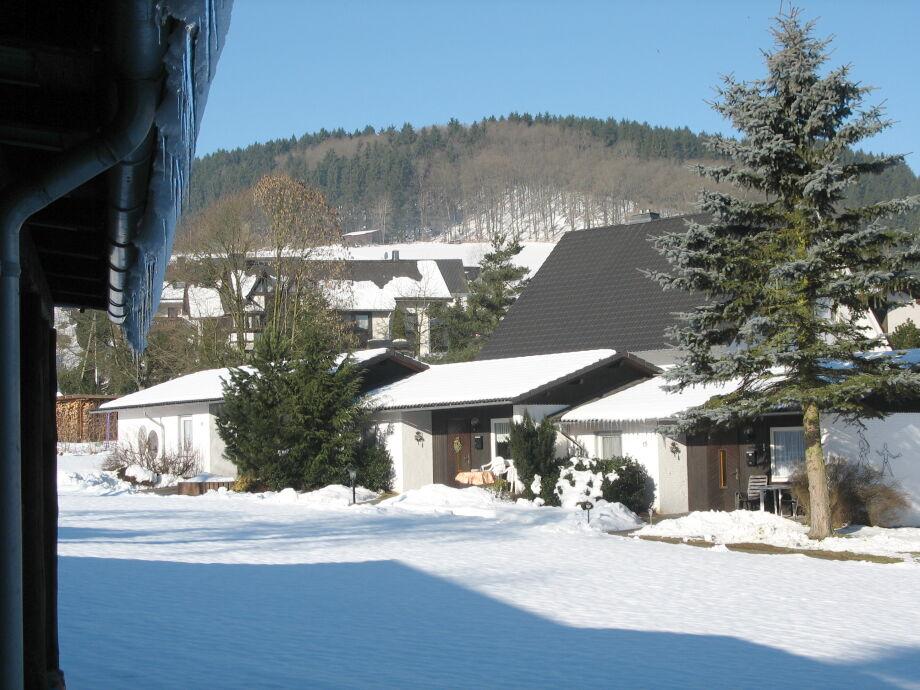 Ferienhäuser im Winter