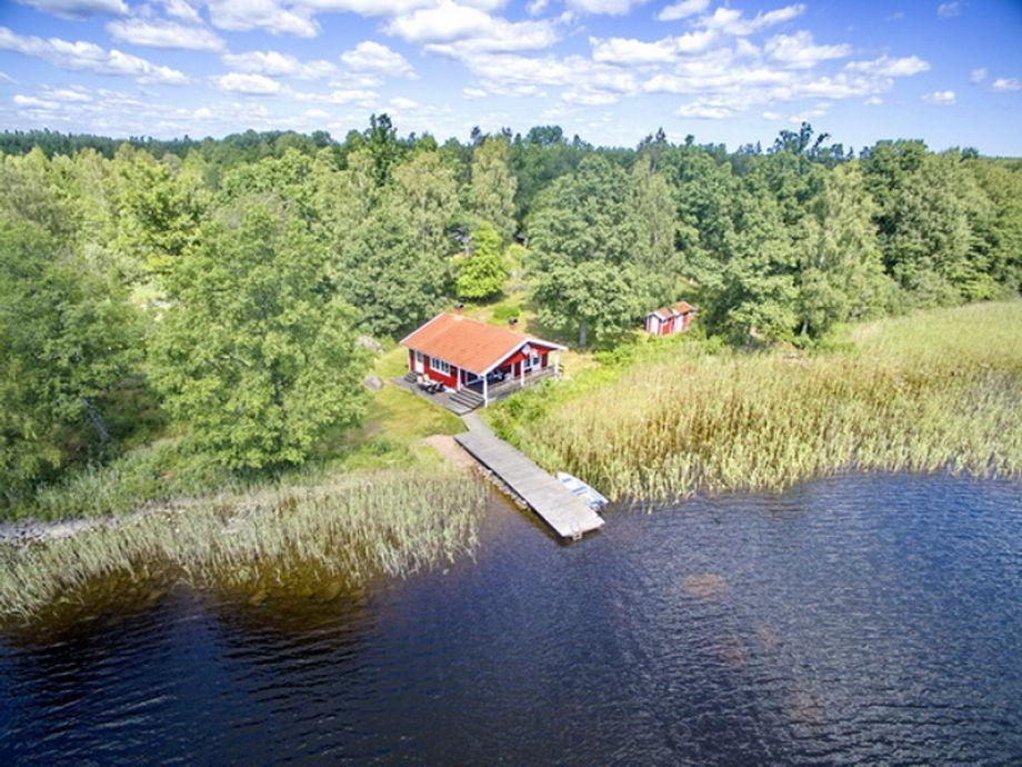 Luftbild des Hauses