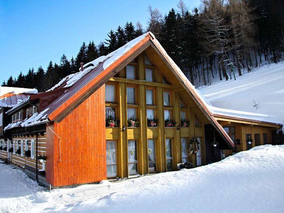 Pension U Veselych Pec pod Snezkou in Winter