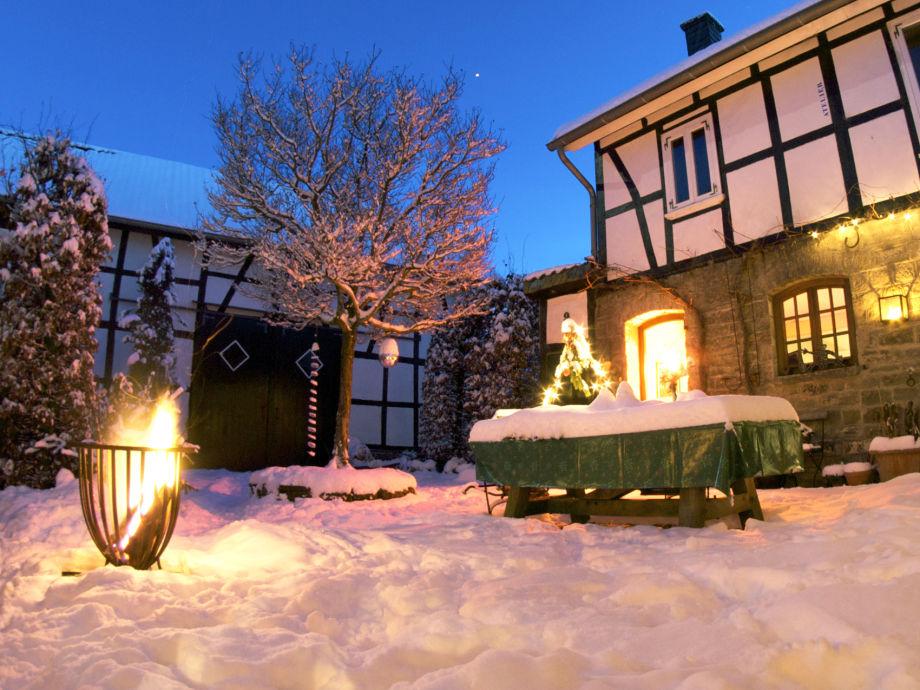 Winterstimmung im Innenhof