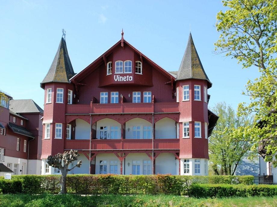 Blick von der Ostsee auf das Haus