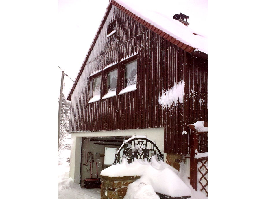holiday house in winter time