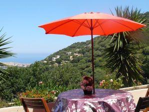 Ferienwohnung in der Villa Sorbo - Meerblick auf Ile-Rousse