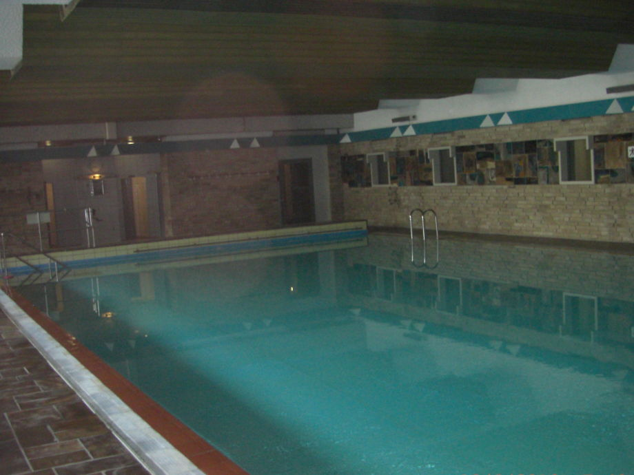 The swimming pool in the complex