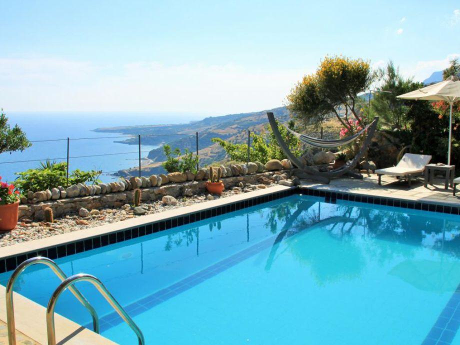 Villa Anemos mit wunderbarem Blick auf Küste