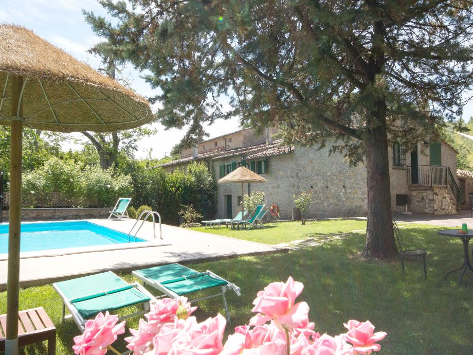 our tuscan stone house with the lovely private pool