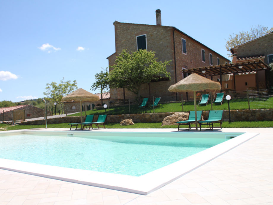 our house and the lovely pool