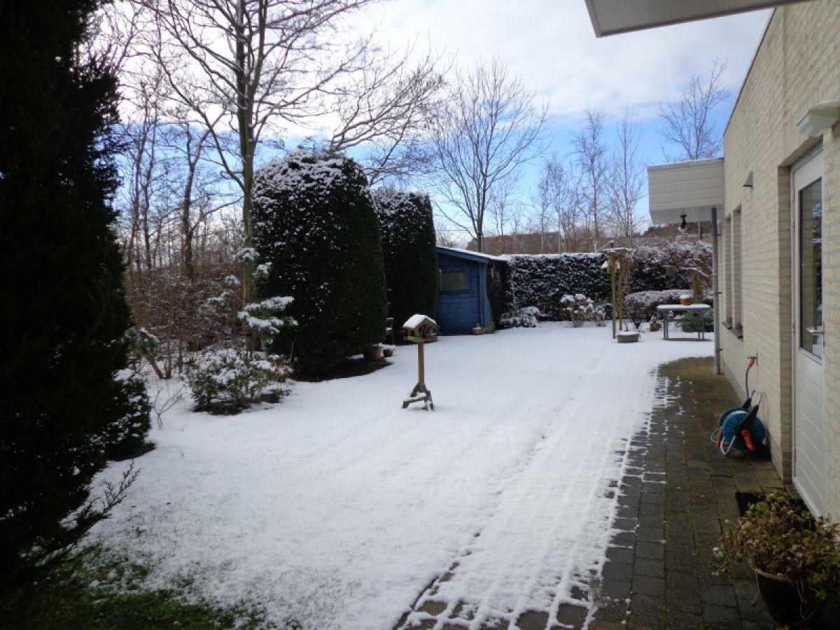 Bungalow aan de bosrand de koog firma vakantiebureau texel frau jenneke kragt - Garten im winter ...