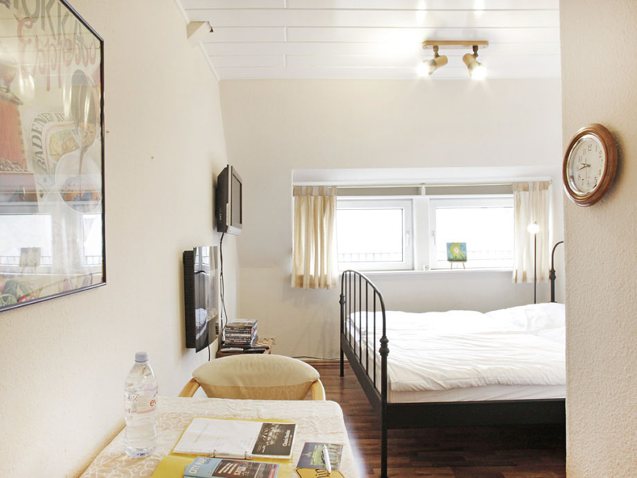 der Wohn-Schlafbereich mit Weitblick