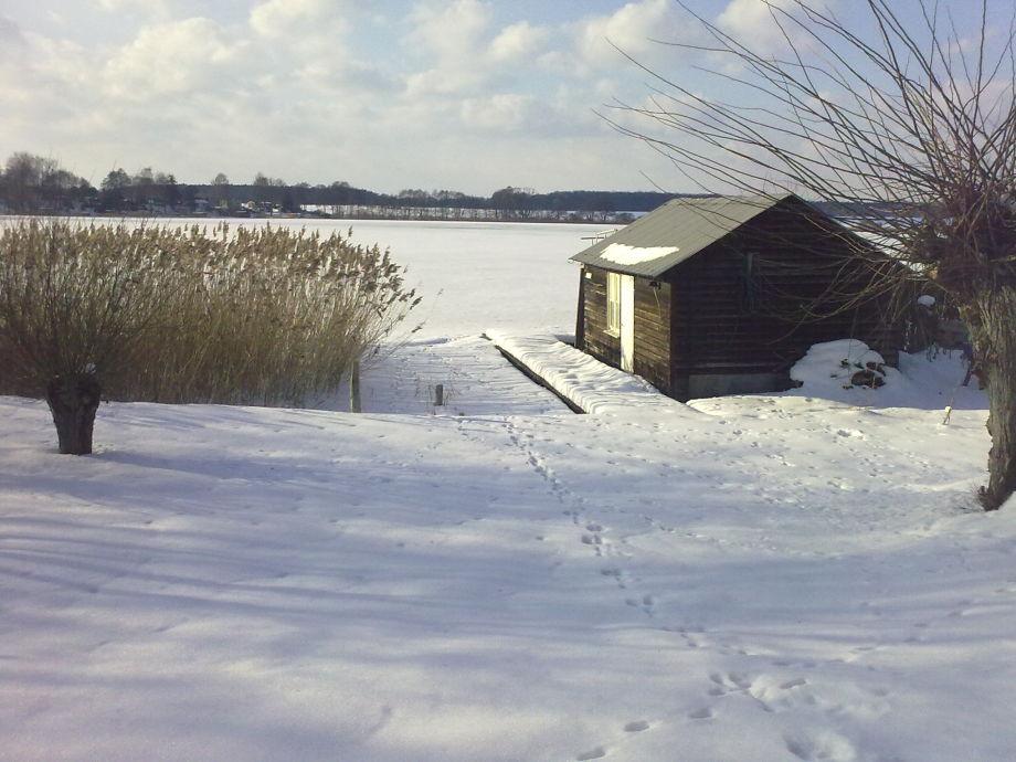 Großer Priepert See unter Schnee & Eis!