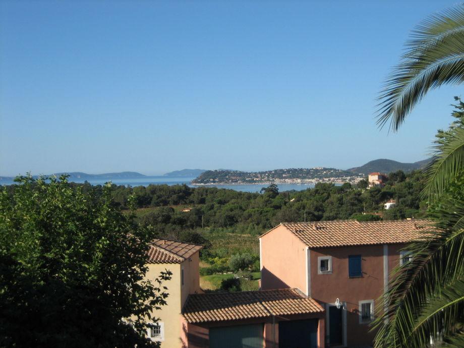 Blick vom Balkon auf die Iles d'Hyères