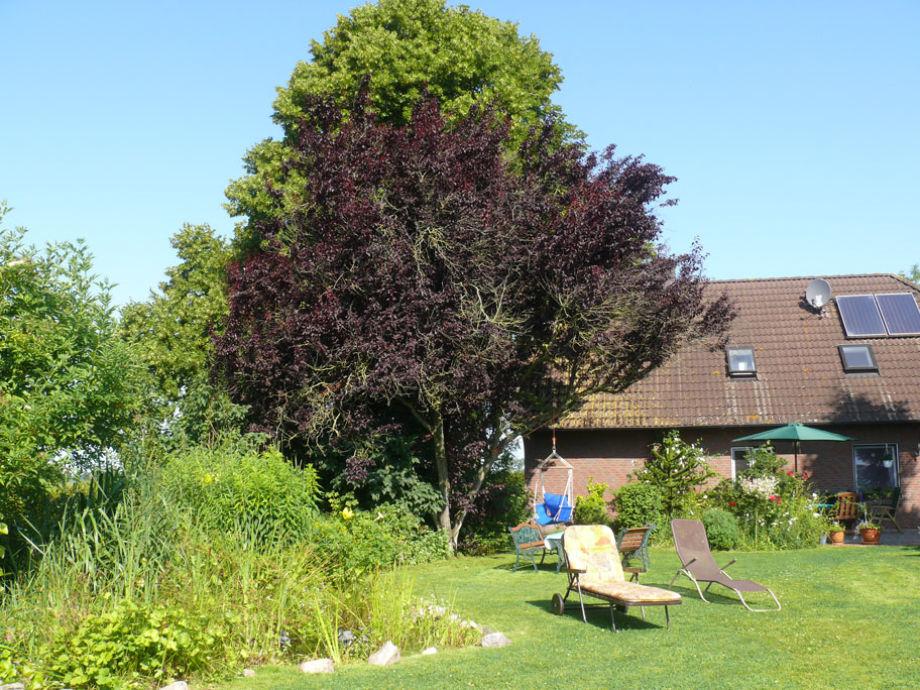 Hausrückseite mit Garten