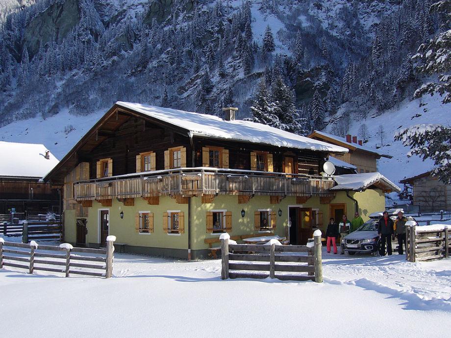 Hütte Wintermorgen