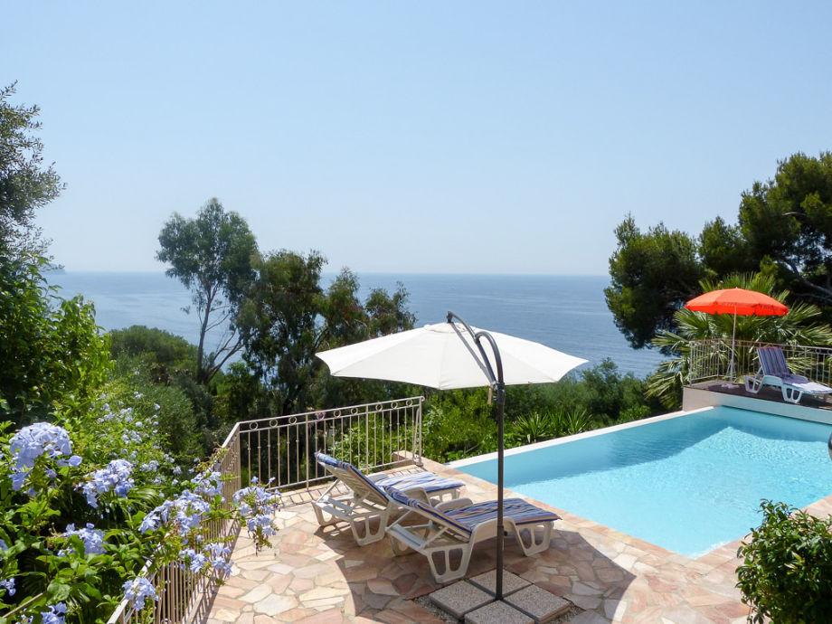 Villa mit beheizbarem pool direkt am meer bei le pradet for Garten pool 4m