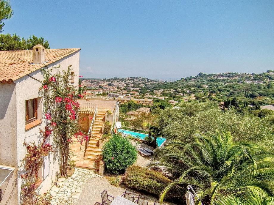 Ferienhaus in Vallauris mit Weitblick