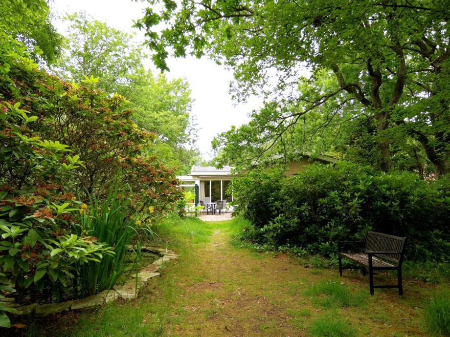 Der Garten des Bungalow 't Vogelbergje