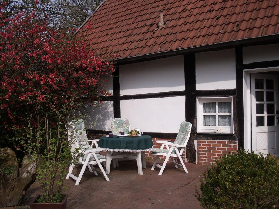 Terrasse im Frühjahr
