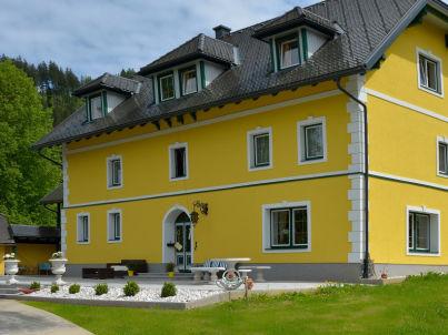 Hütte zum Badeteich
