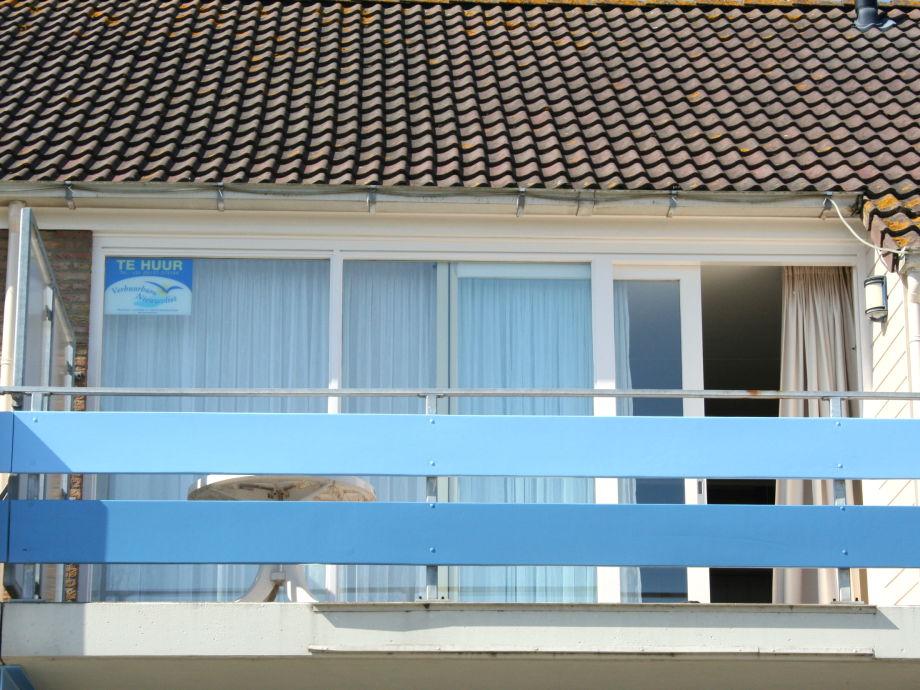 Der Balkon des Apartments