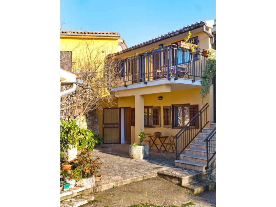 Aussenansicht der Ferienwohnung Roberta in Istrien