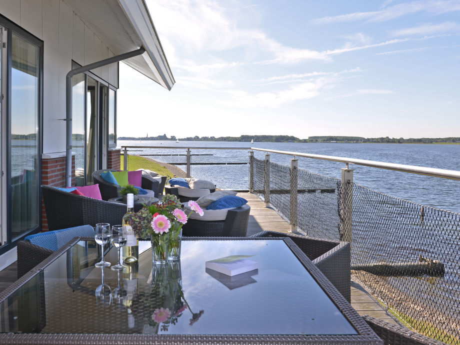 Balkon mit Blick auf Veerse Meer