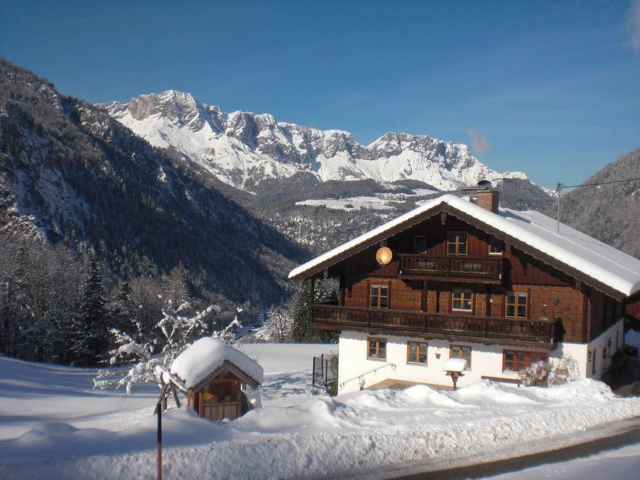 Haus Riemerlehen im Winter