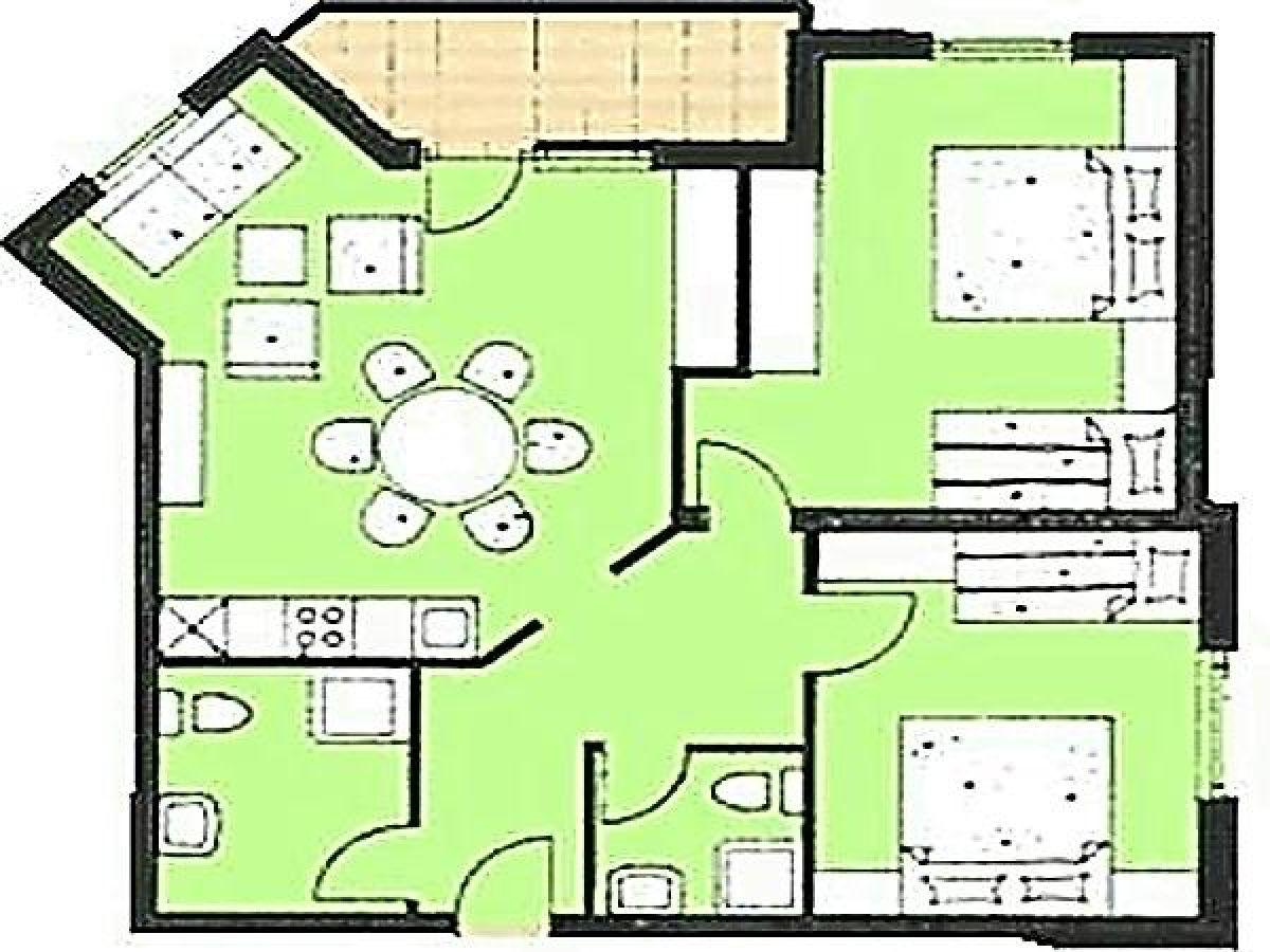 Ferienwohnung Appartement Mary 4
