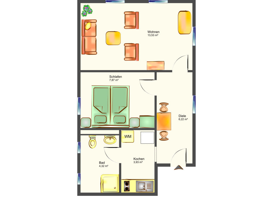 bungalow waldsiedlung waldhaus 1 2 korswandt ostsee usedom mecklenburg vorpommern firma. Black Bedroom Furniture Sets. Home Design Ideas