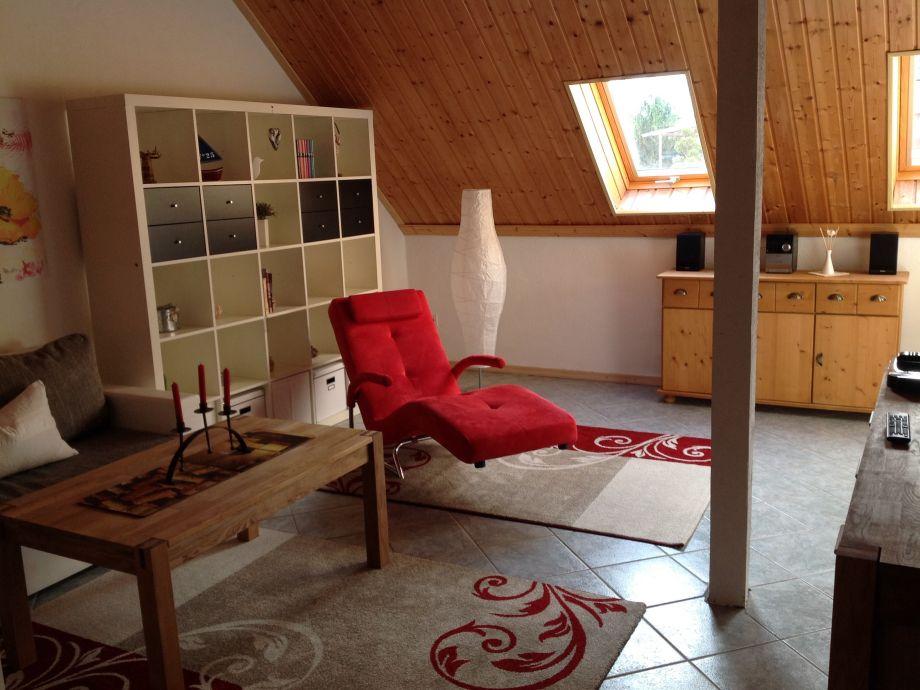 Wohnzimmer mit Liege