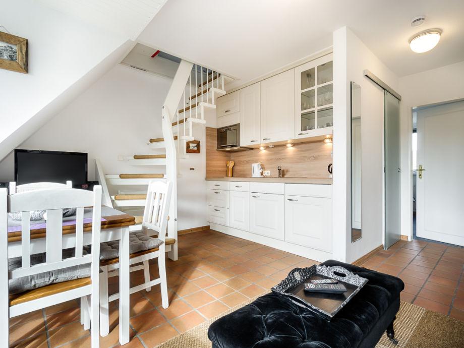 Küchenpantry ferienwohnung maritime 3 zi fewo mit sonnigem südbalkon nordsee