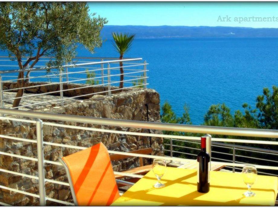 Ausstattung Villa Ark von der Meerseite