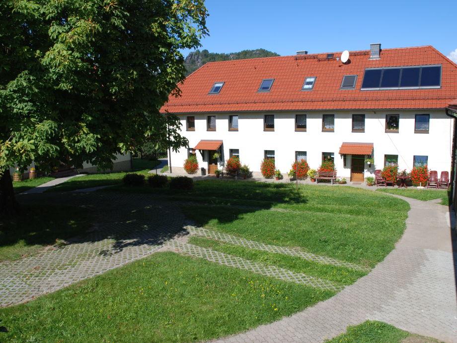 Gästehaus Schmidt in der Sächsischen Schweiz im Sommer