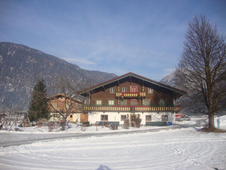Der Mussbachhof im Winter