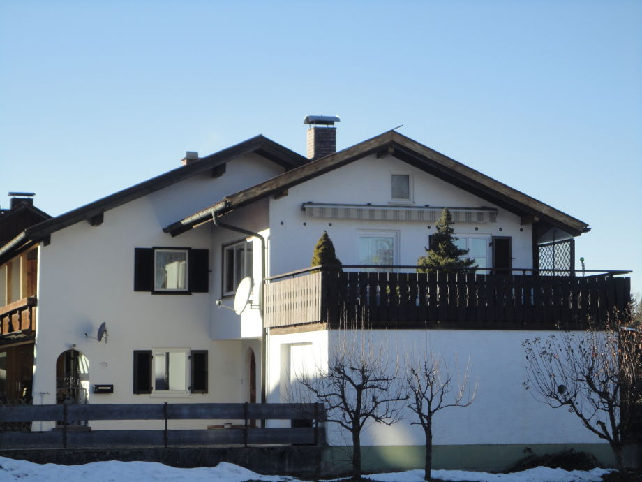 Blick auf Whg./Dachterasse Rückseite Haus