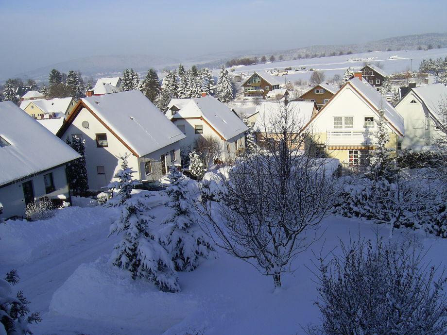 Blick auf das Wohngebiet