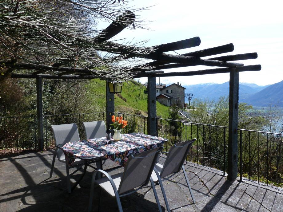 Terrasse mit Blick auf den Lago Maggiore