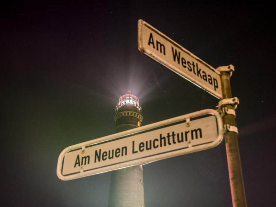 Dohlennest Blick bis zum Leuchtturm