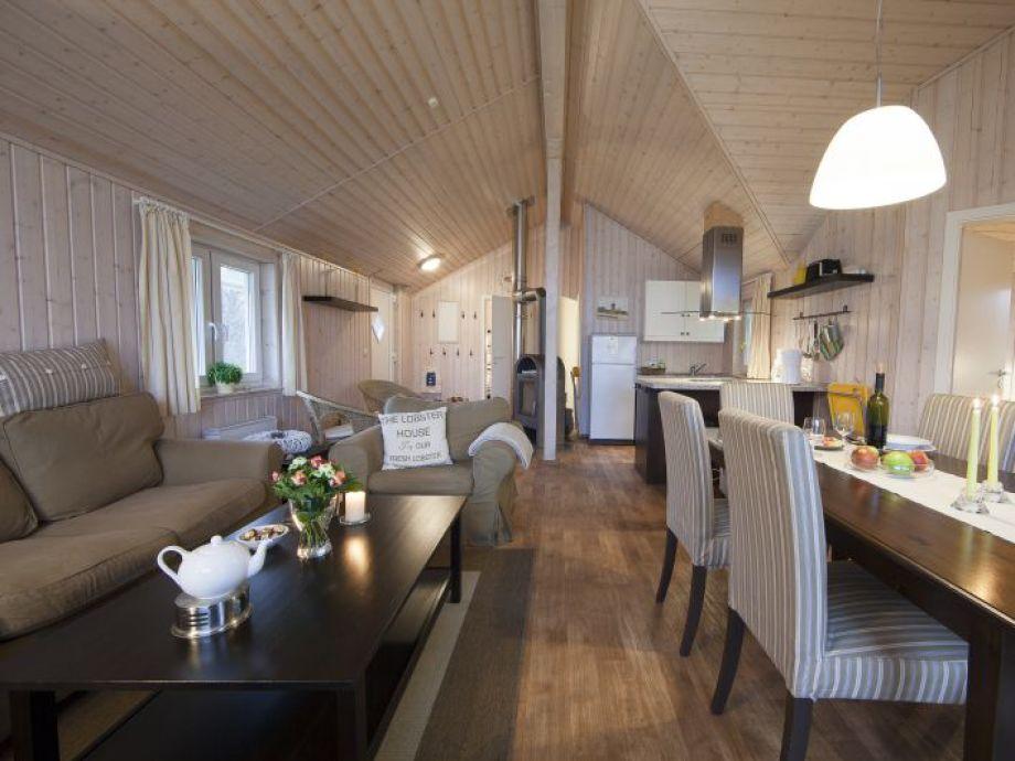 Wohn- und Essbereich im Fjordhaus Typ C