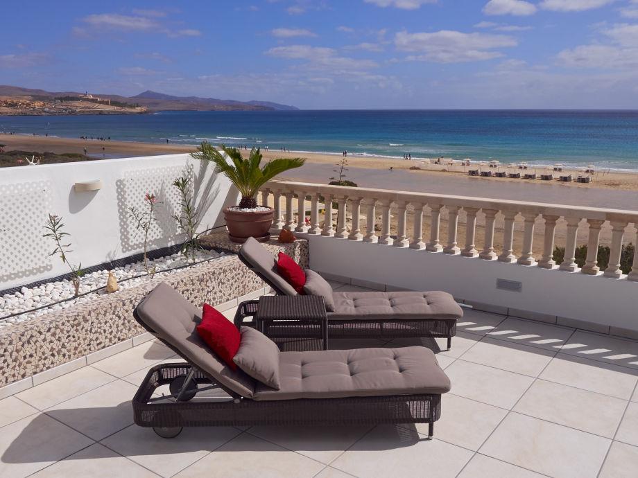 Terrasse direkt am Strand