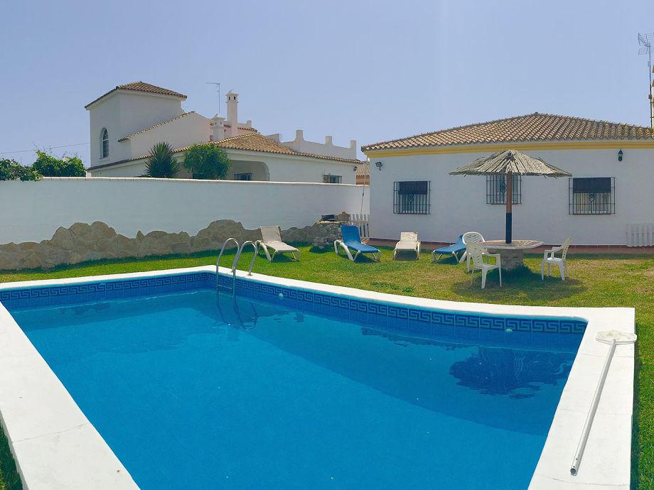 Ferienhaus mit Pool in El Palmar