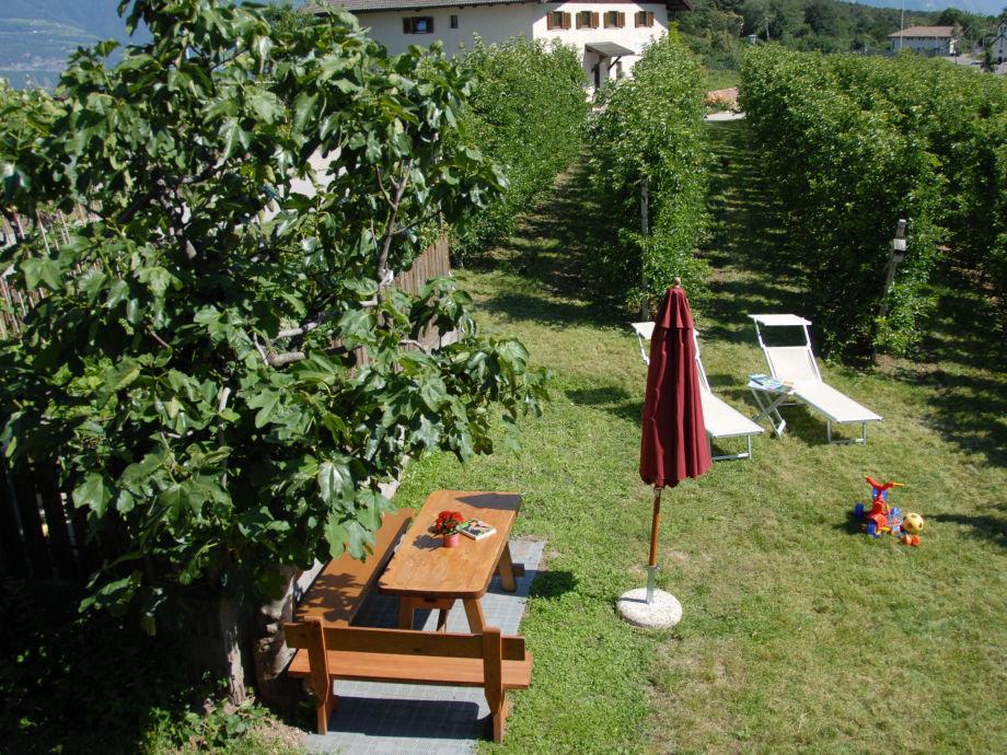 Gartentisch mit Liegewiese