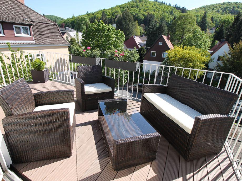 Ferienwohnung bruggemann quotam golfplatzquot harz familie for Markise balkon mit tapeten von hammer