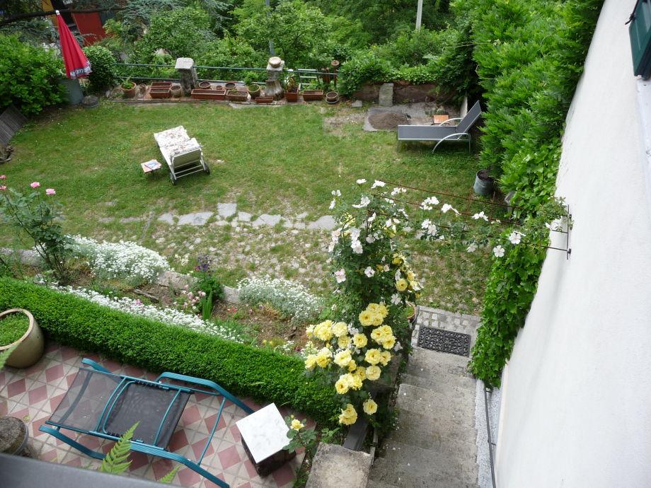 Blick von Terrasse nach unten