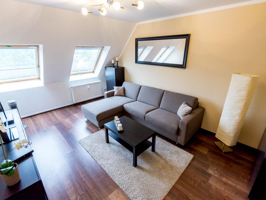 Wohnzimmer mit Schlafcouch 160 x 200