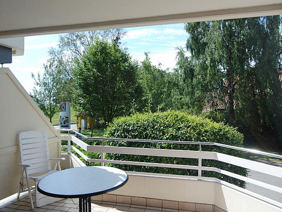 Großer, überdachter Balkon