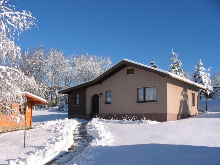 Ferienhaus Wiesenblick, Winteransicht