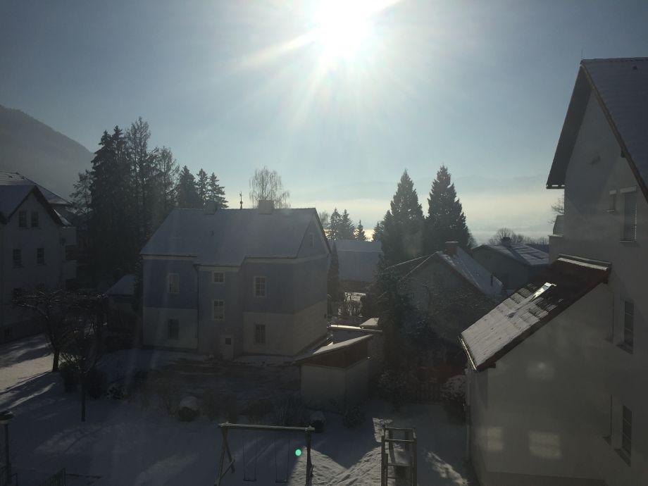 Blick aus dem Wohnzimmer-Winter