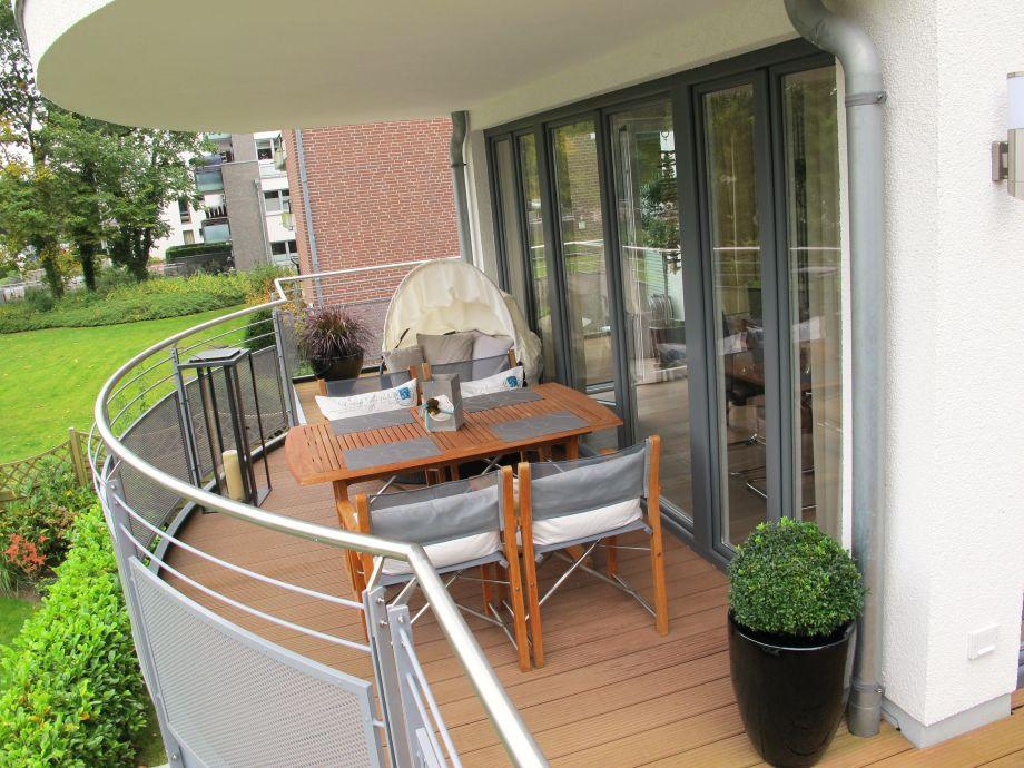 Schöner Balkon zum entspannen