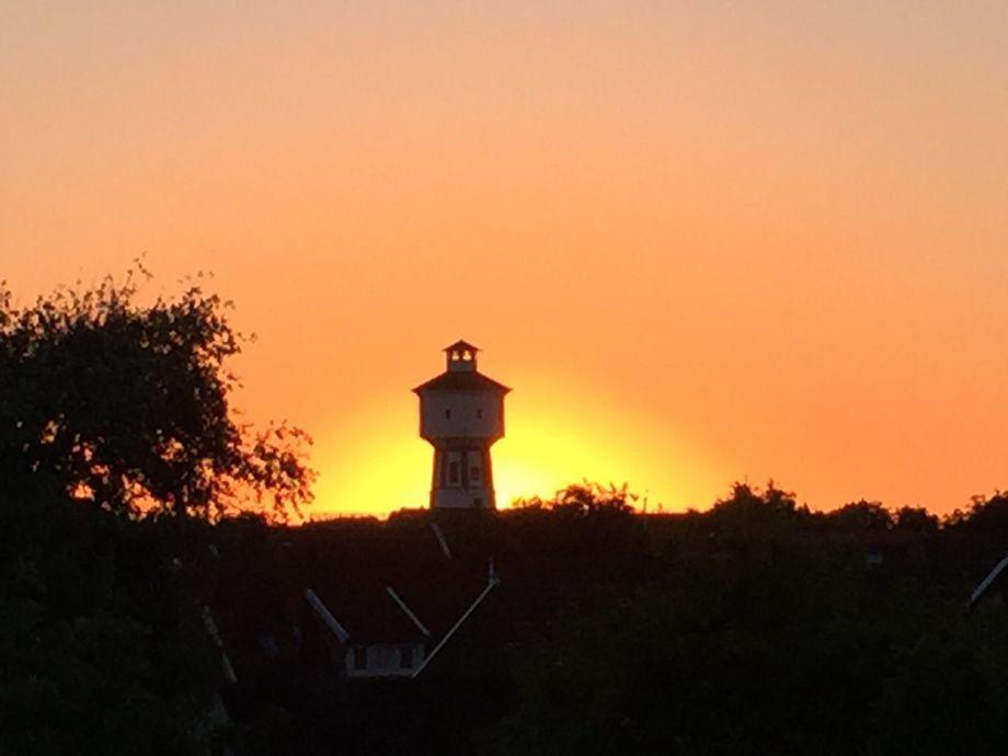 Blick von der Loggia Sonnenuntergang