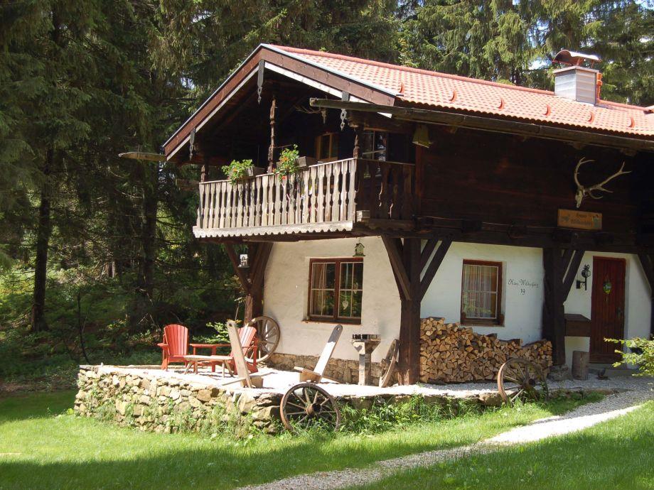 Ferienhaus Wildschütz im Sommer